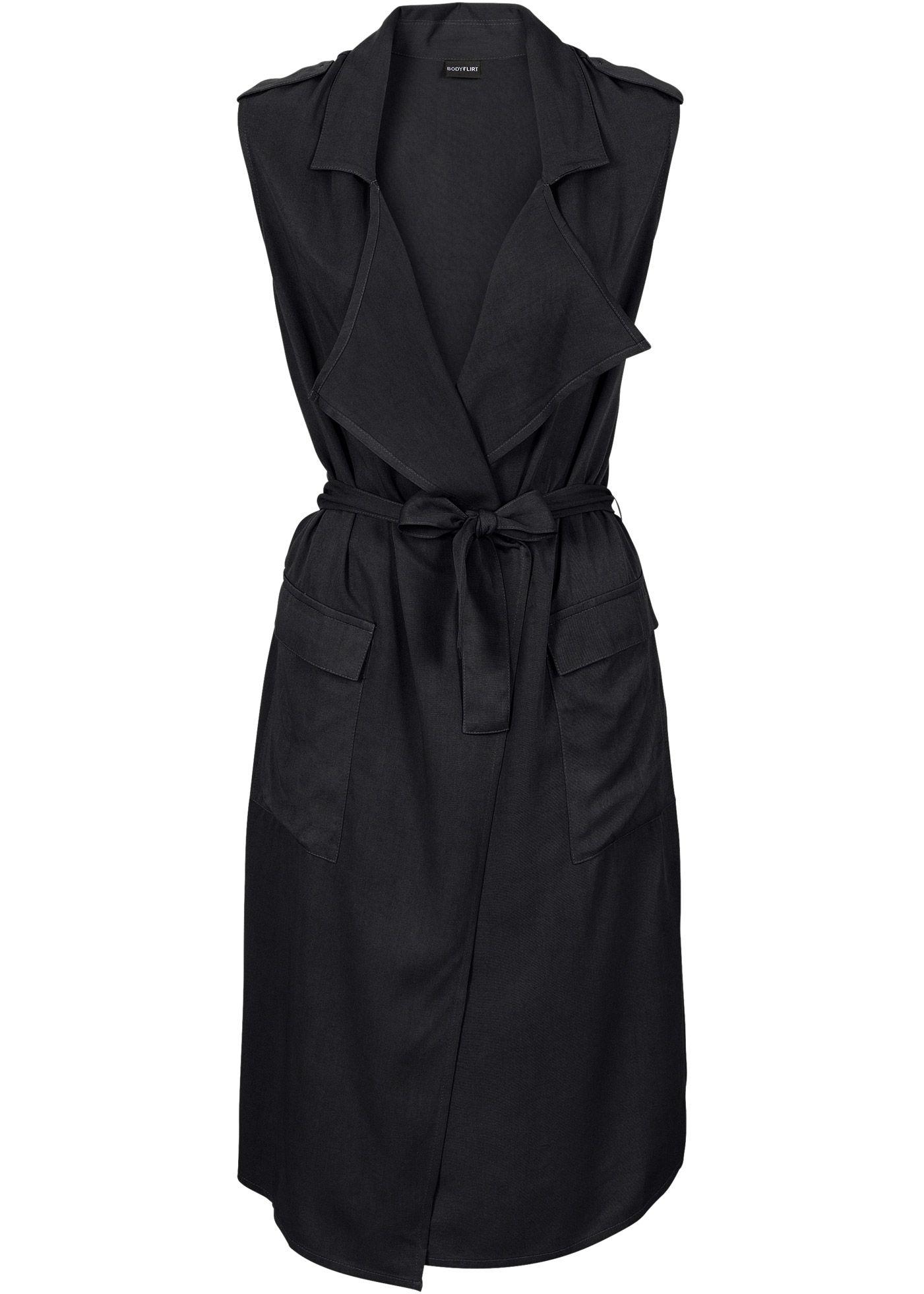 c794551b2 Bonprix Collection - BODYFLIRT Kruvaze elbise - Siyah Vestido Envelope,  Brand Store, Maine,