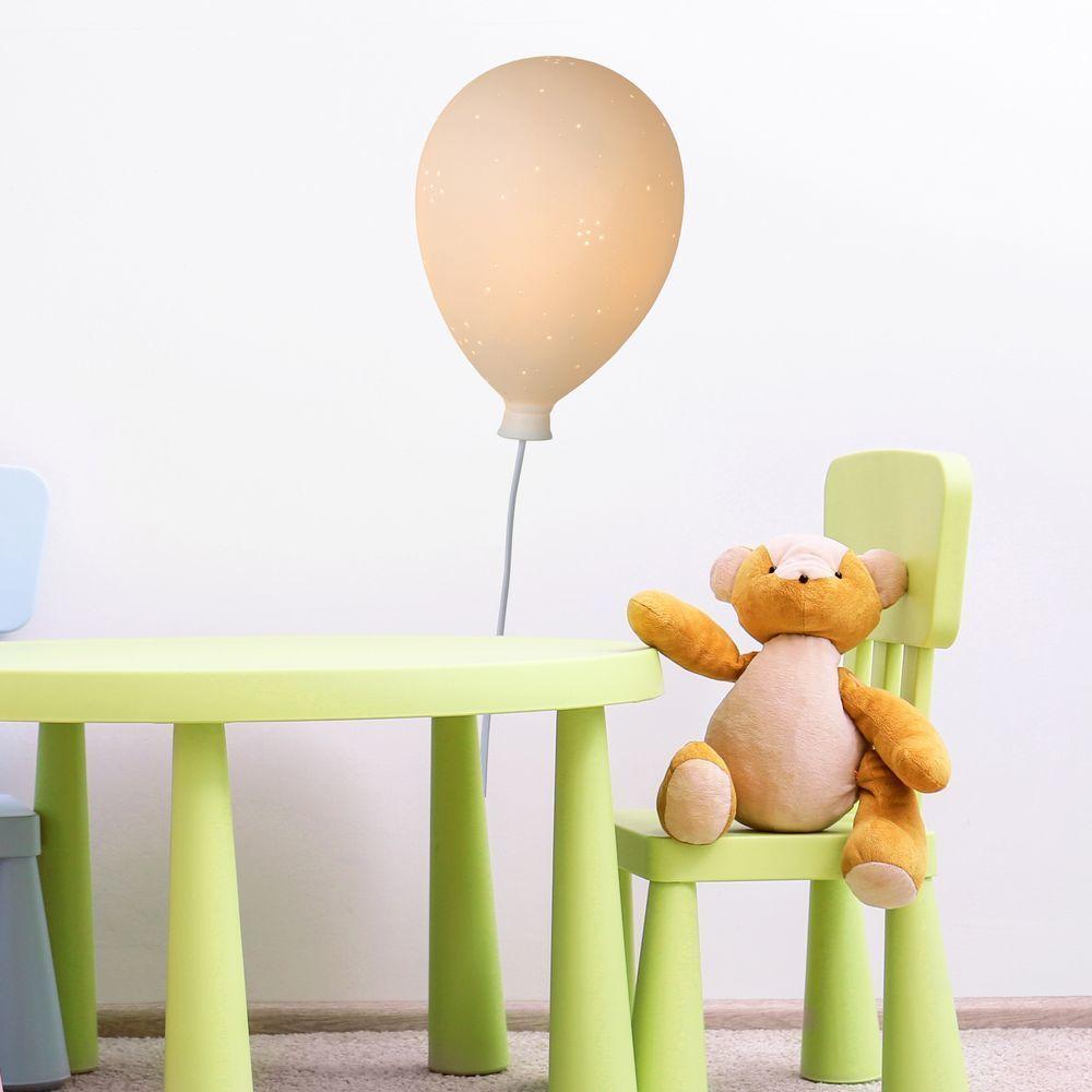 Wandleuchte Balloon aus Keramik in weiß mit Schalter