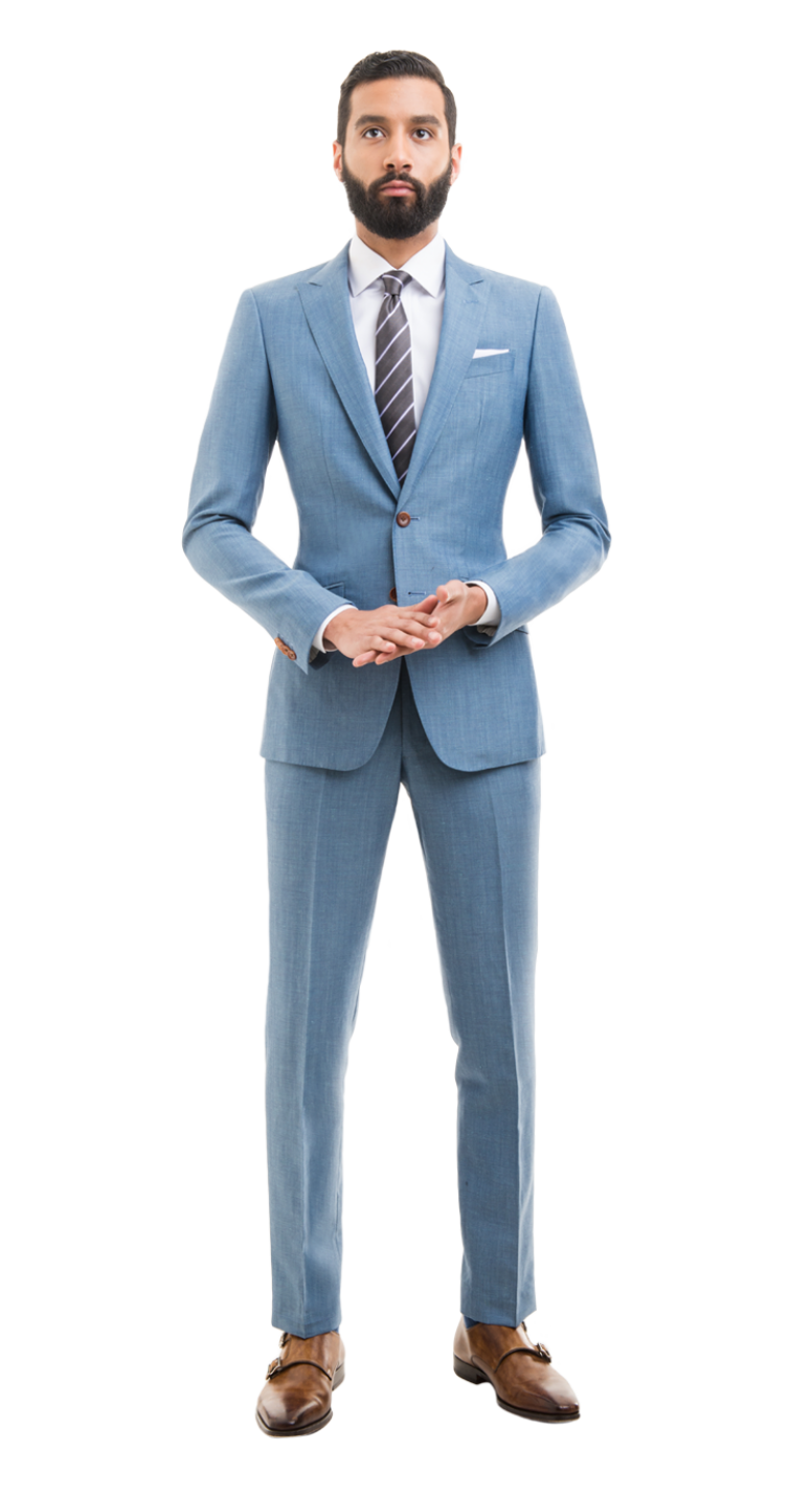 9a5542568a103 Light Blue Linen Blend Custom Suit in 2019 | my style is better than ...