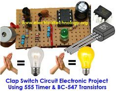 Clap Switch Is A Basic Electronics Mini Project Made From