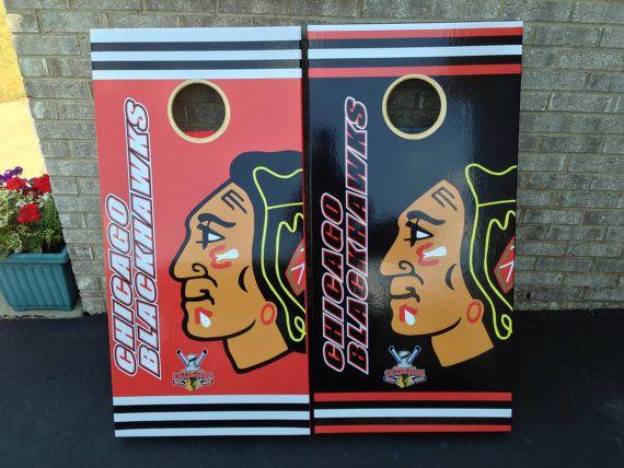 Chicago Blackhawks Bean Bag Boards Custom Cornhole pick any 2