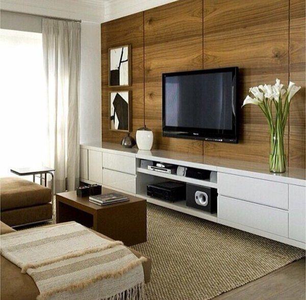 tv gardinen fenster tageslicht schrankwand wohnwand fernsehen - moderner wohnzimmerschrank mit glastüren und led beleuchtung