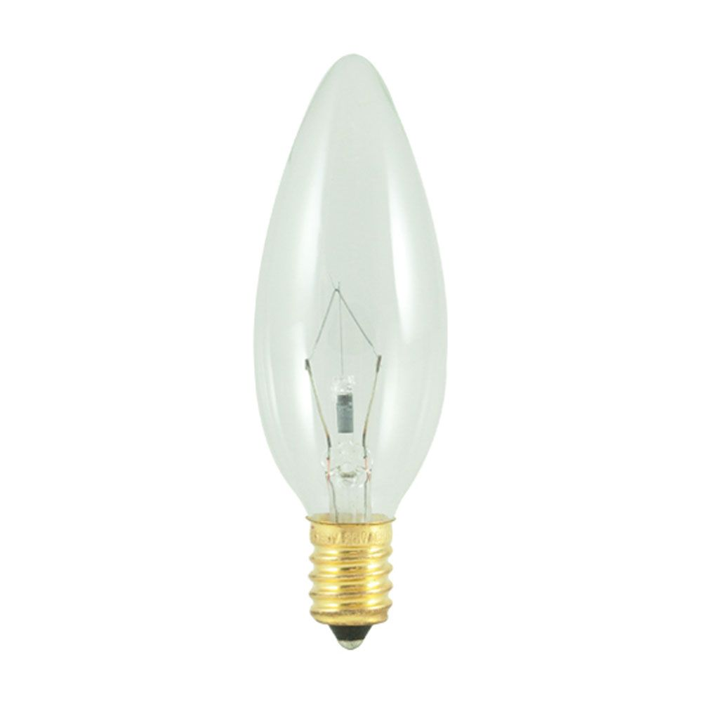 40w 130v Torpedo European Base Clear Chandelier Sold As 6 With Images Light Bulb Candle Bulbrite Incandescent Bulbs