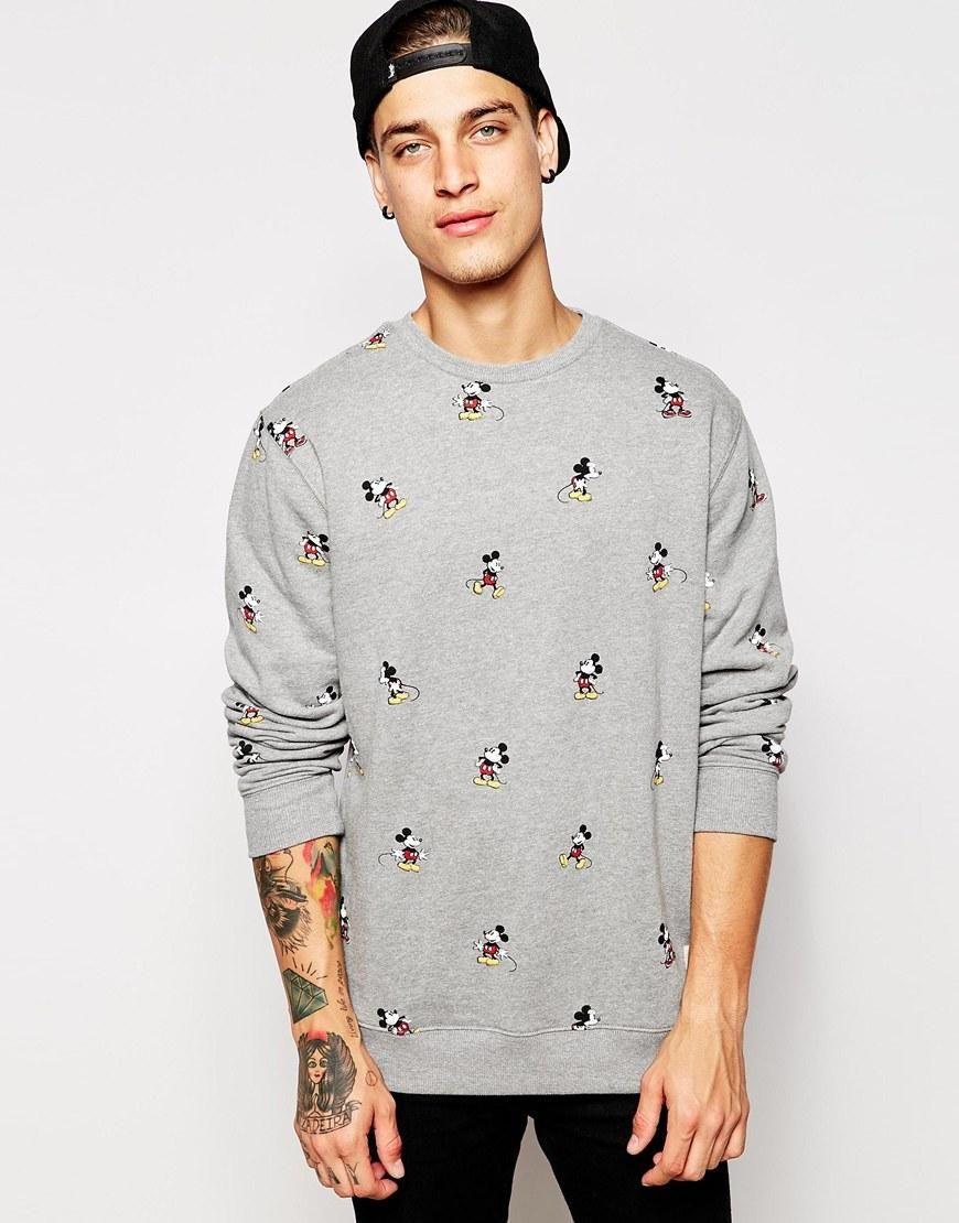 Vans X Disney Sweatshirt With Mickey Print At Asos Com Mens Sweatshirts Hoodie Mens Sweatshirts Disney Sweatshirts [ 1110 x 870 Pixel ]