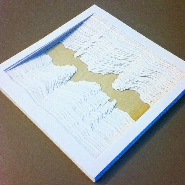 Making a tunnel book from sound waves  #tunnelbook #rcad #graphicdesign #soundbook #lasercut #bookmaking #bestoftheday #webstagram #f4f #followforfollow #igers #igdaily #iphonesia #instagramhub #l4l #likeforlike #potd #picoftheday #photooftheday #tweegram #tagstagram #teamfollowback by crees54