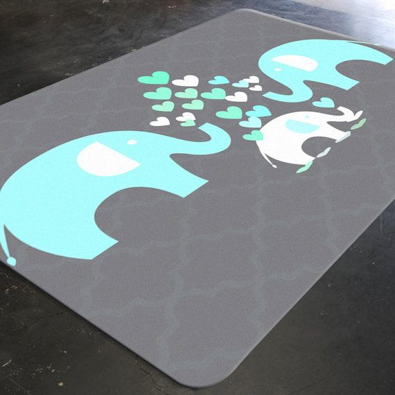 Elephant Rug Elephant Nursery Decor Rugs For By Hawkerpeddler Elefant Teppich Baby Teppich - Baby Teppich Elefant