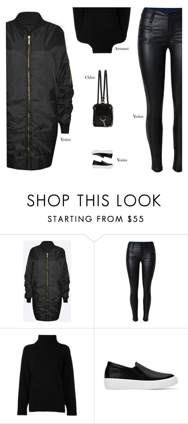 """""""YOINS"""" by s-thinks ❤ liked on Polyvore featuring Emporio Armani and Chloé"""