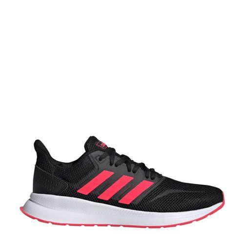 adidas performance Runfalcon hardloopschoenen zwart/roze ...