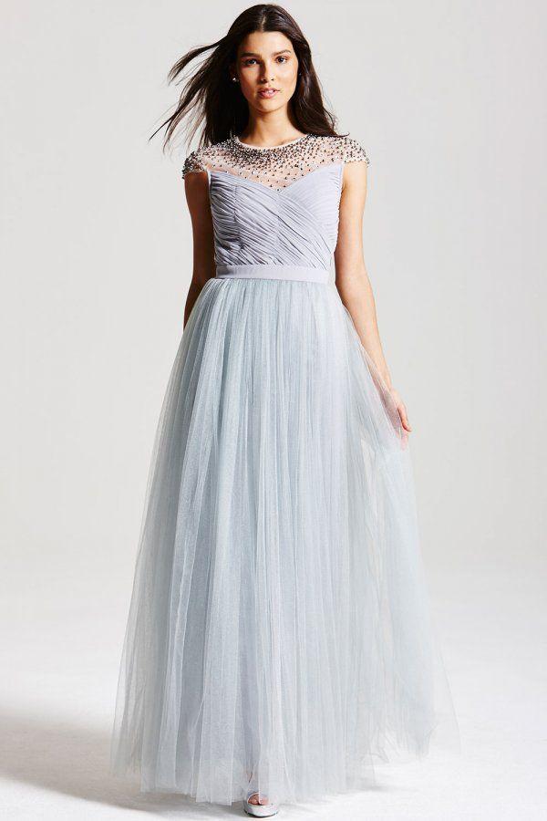 Little Mistress From Little Mistress Uk Beaded Maxi Dress Dresses Tiered Prom Dress