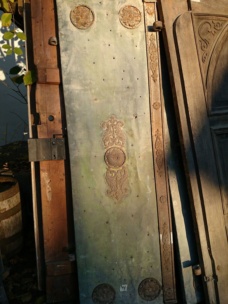 Barock Pracht Portal Antik Ture Hausture 2 Flugelig Mit Metall Beschlagen Antike Turen Barock Alte Turen