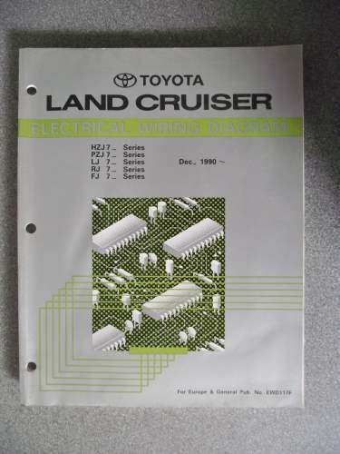 toyota land cruiser wiring diagram manual 1990 ewd117f on ebid rh pinterest com