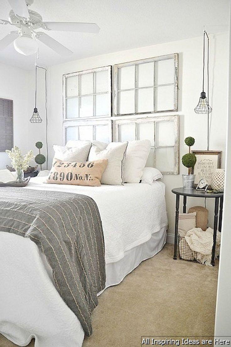 35 Incredible Modern Farmhouse Bedroom Decor Ideas   Schlafzimmer ...