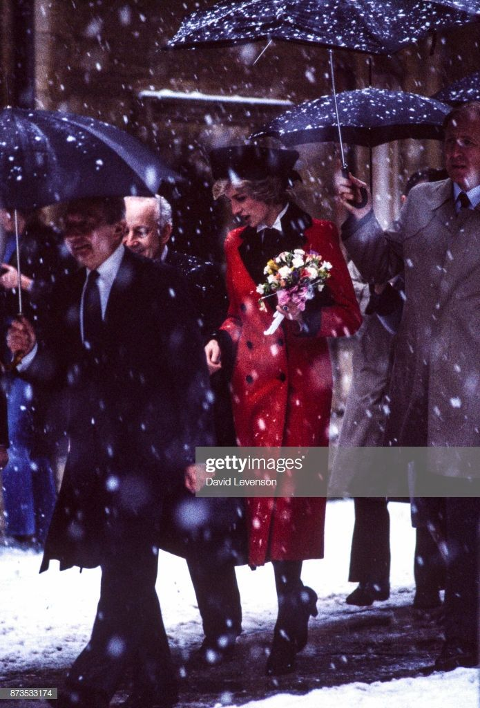 Diana, Princess of Wales visits Cambridge in the snow, on February... #visitwales