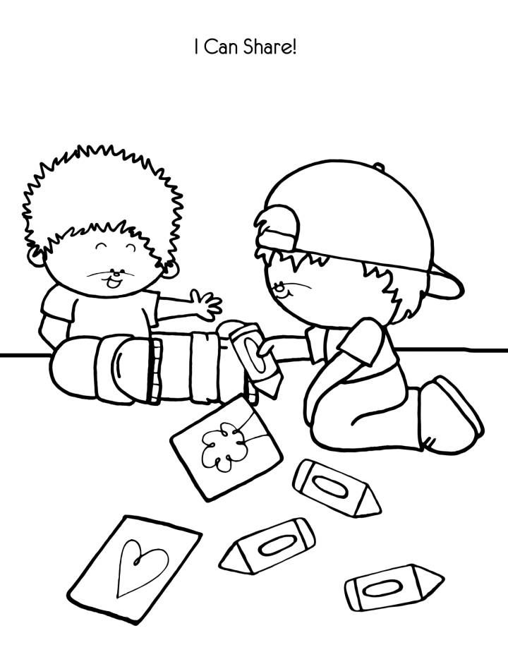 I Can Share Coloring Page Coloring Pages For Kids Coloring