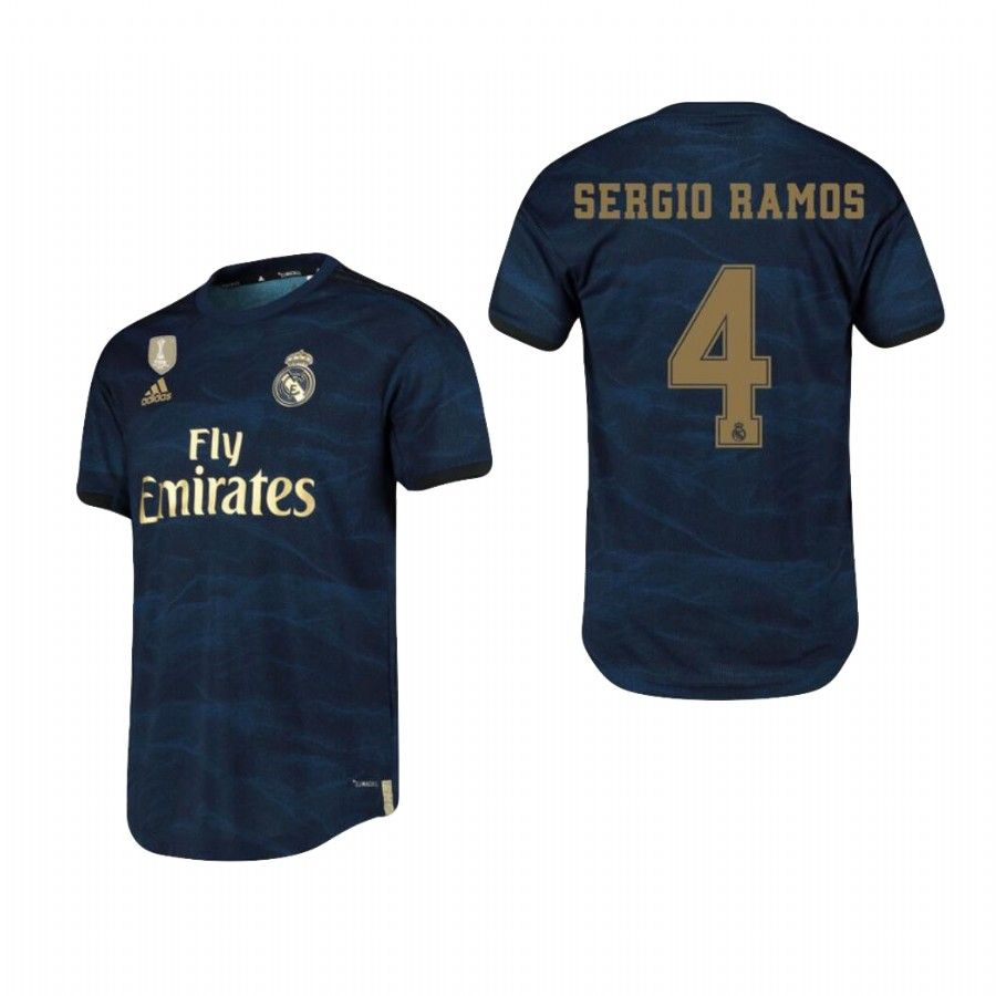 4 Sergio Ramos Real Madrid 2019 2020 Away Soccer Jersey Shirt Soccer Jersey Real Madrid Jersey Shirt