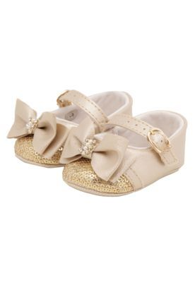 94ce08a780 Sapato Pimpolho Infantil Strass Dourado