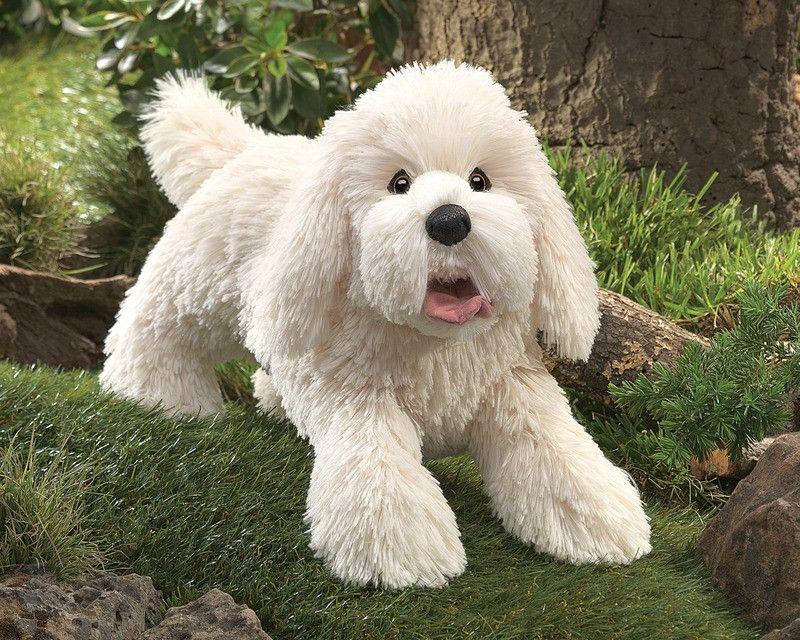 PRIZE Week 1 Folkmanis Panting Dog Pup Puppet (RRP 79.95