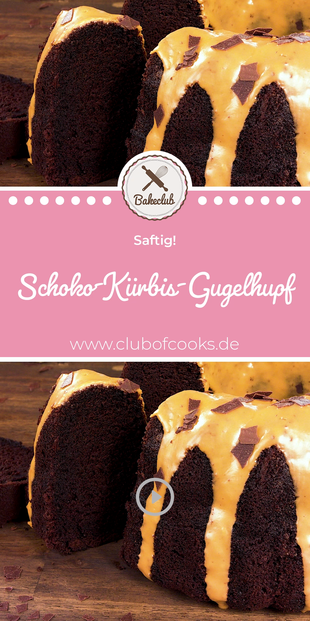 Saftiger Schoko-Kürbis-Gugelhupf | Kürbiskuchen (Herbst) | BakeClub