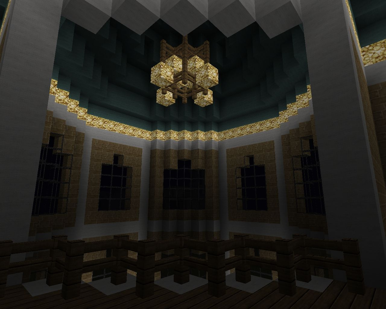 Fancy Interior With Chandelier