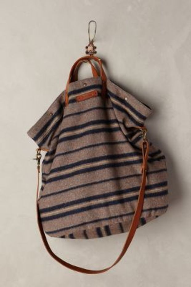 Larissa Wool Tote by Anthropologie Purple Motif One Size Bags