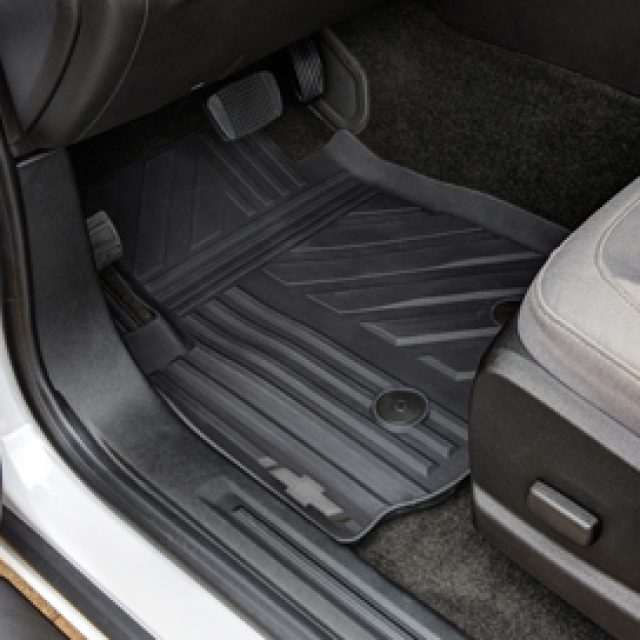 First Row Premium All Weather Mats In Jet Black With Bowtie Logo