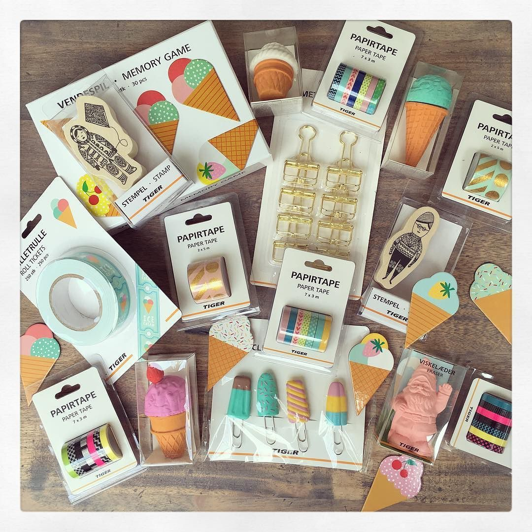Shopping haul from Flying Tiger love the ice cream erasers clips ...