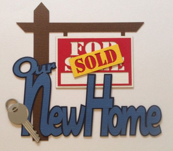 Our New Home Scrapbook Title from Croppaperscissorsandmore ...