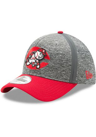 online retailer 6eee0 cd18b New Era Cincinnati Reds Mens Grey 2017 Clubhouse 39THIRTY Flex Hat