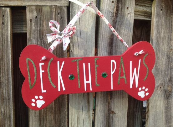 Wooden Dog Bone Deck The Paws Live Laugh Bark By Artistrybyjamie