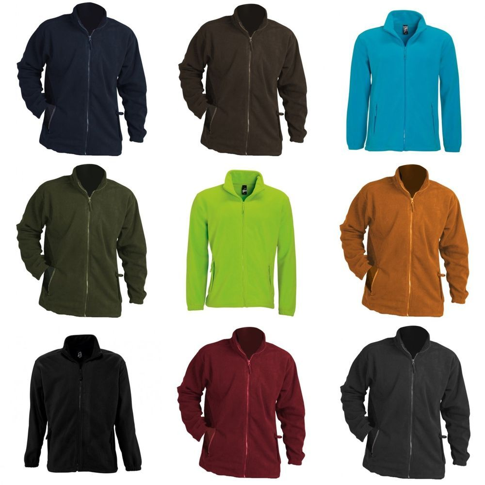 Sols mens north full zip outdoor warm zip up fleece jacket