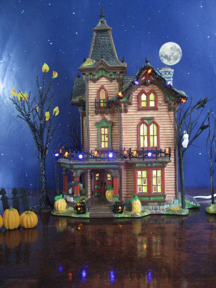 dept 56 snow village halloween halloween victorian house