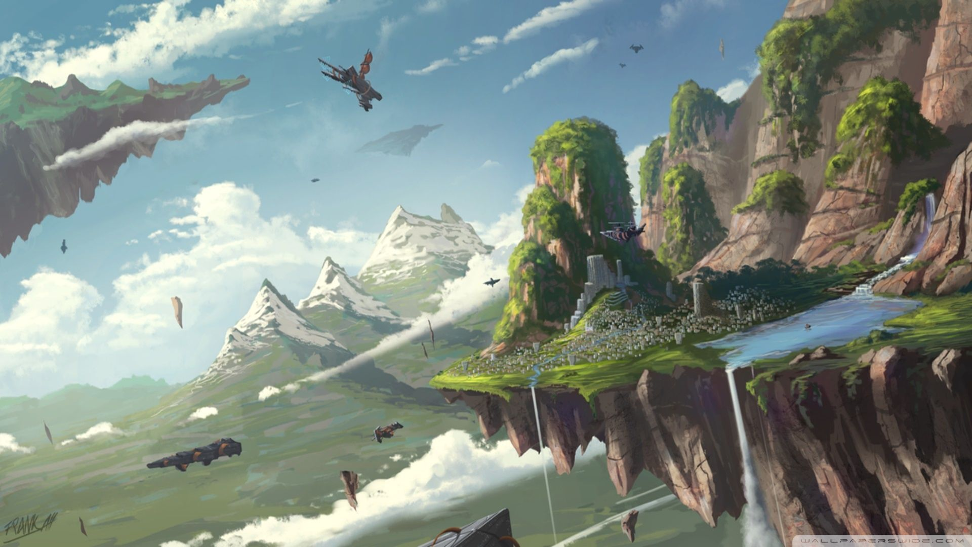Floating Island HD Wallpapers Backgrounds Wallpaper
