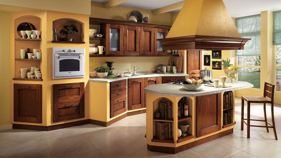 Cucine Piccole Rustiche : Idee di cucine moderne con legno u colori idee e materiali