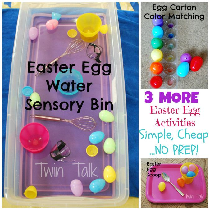 3 more easter egg activities for toddlers that are free with no prep