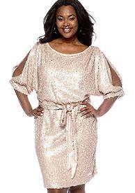 Jessica Simpson Plus Size Sequin Blouson Dress (belk) | Yeah ...