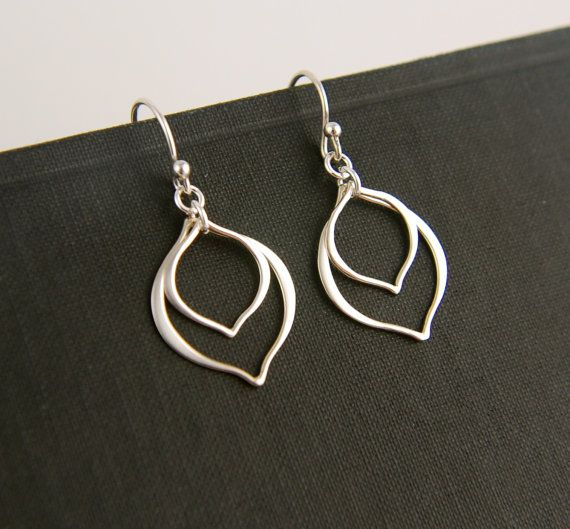 Layered arabesque earrings in sterling silver by jersey608jewelry, $23.00