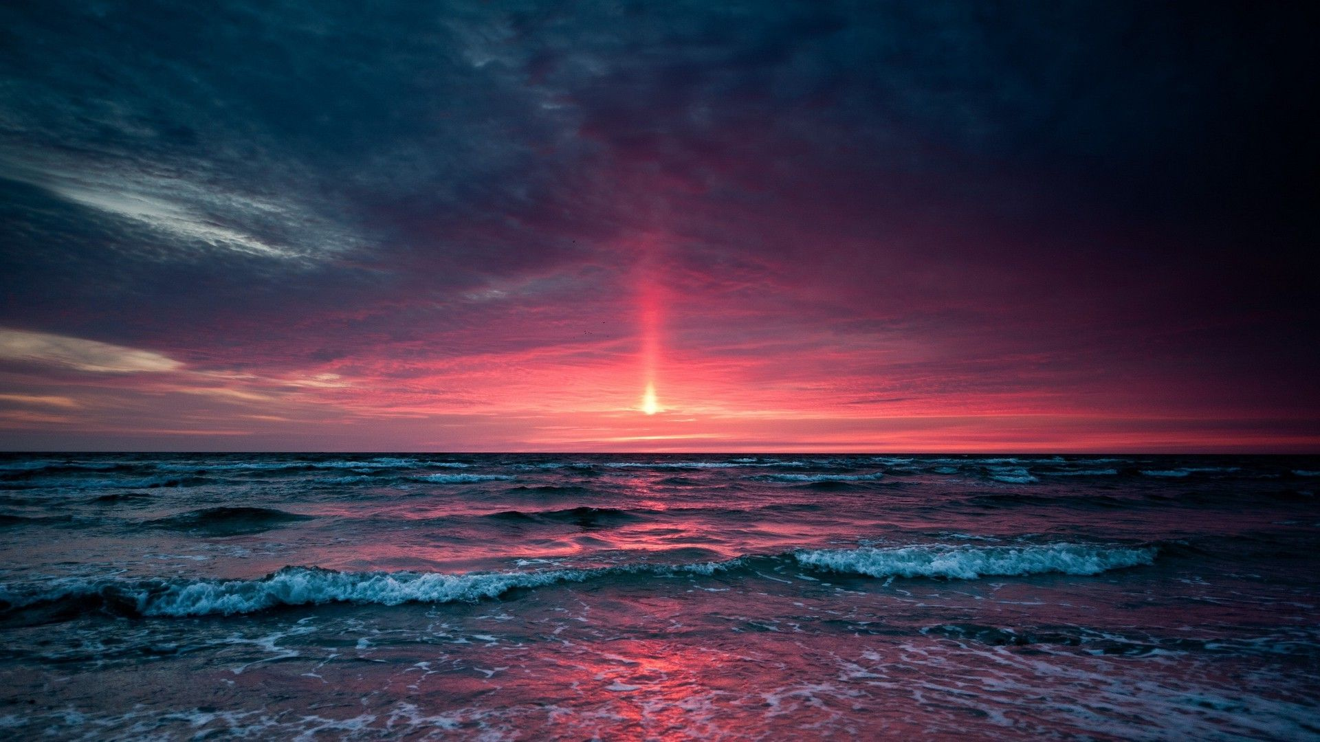 Purple Beach Sunset HD | Sunset Over Ocean | Places to ...