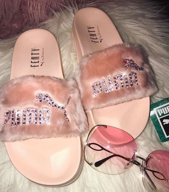 1f55eb5eac14 Steve Madden pink fuzzy slides from  dearlucy in Burlington