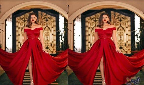 منة عرفة بإطلاله جريئة في أحدث ظهور لها Formal Dresses Prom Dresses Red Formal Dress
