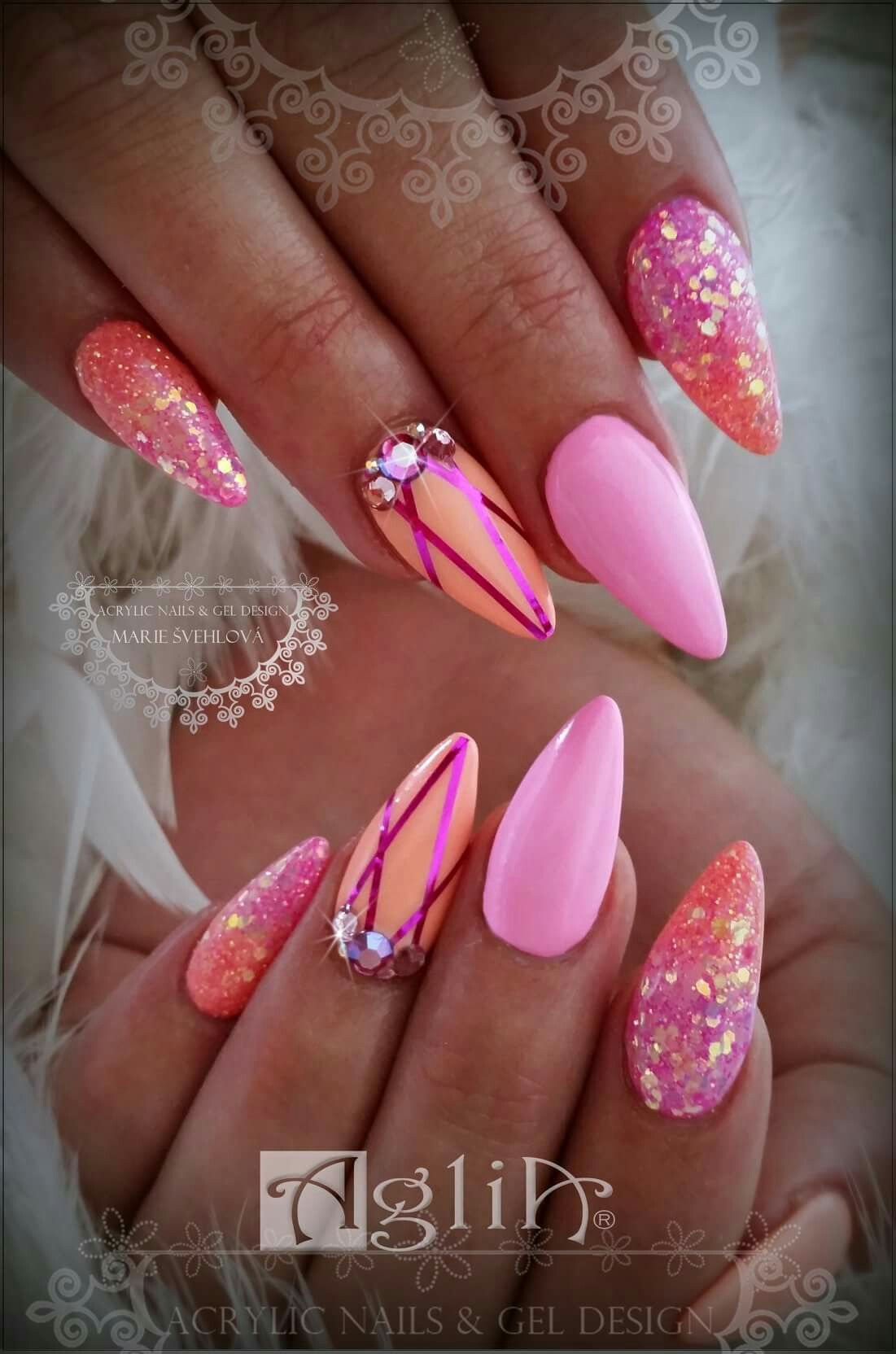 Acrylic Nails Gel Design Summer Nails Candy Nails Nail