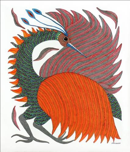 6.Sunil Shyam/Moti - Gond painting