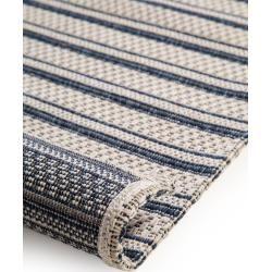 Photo of benuta Waschbarer Baumwollteppich Cooper Blau 75×150 cm – Moderner Teppich für Wohnzimmer benuta