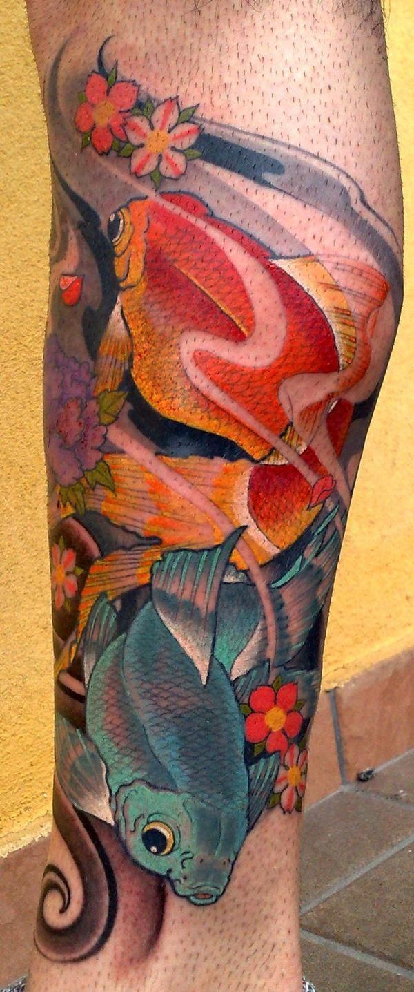 Goldfish Tattoo - Matteo Pasqualin | Goldfish tattoo, Tattoo and ...