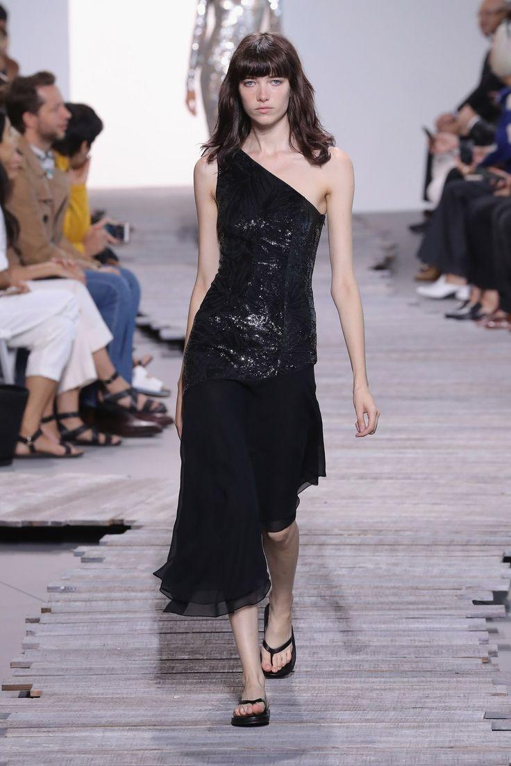 Michael kors collection spring runway show flip flops worn