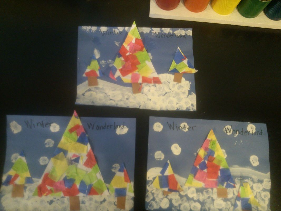 Winter Wonderland With Triangle Trees Preschool Fun