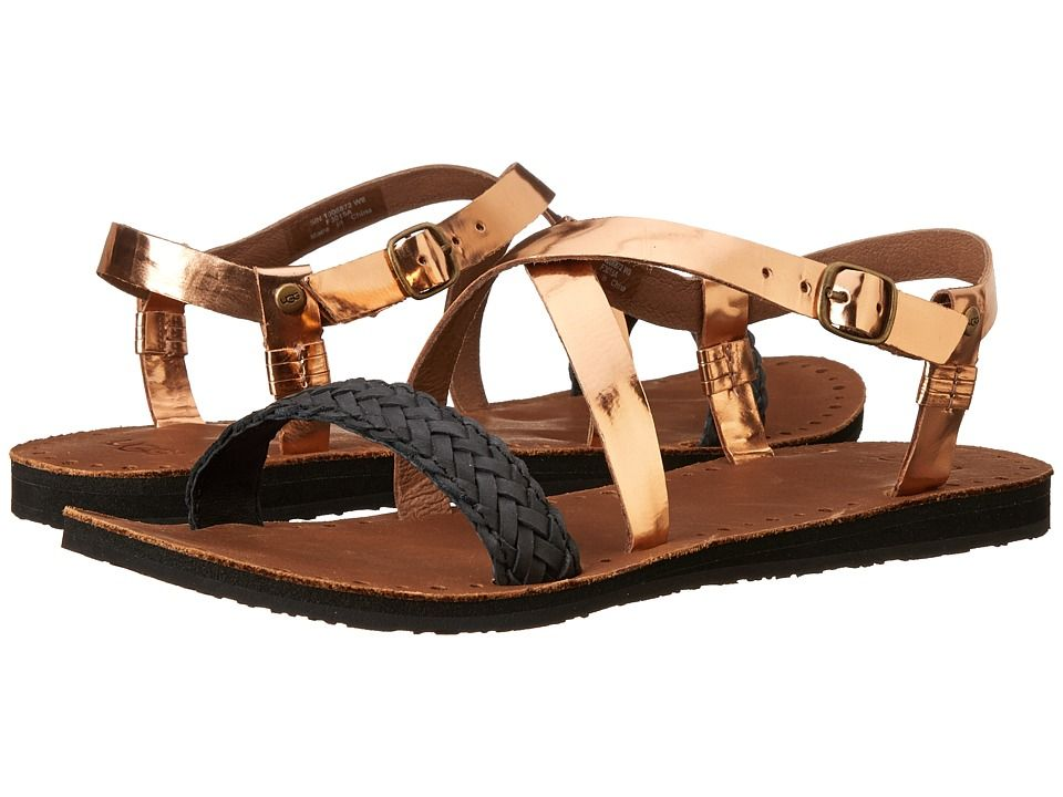 495f6dd76a1 UGG UGG - JORDYNE (ROSE GOLD LEATHER) WOMEN'S SANDALS. #ugg #shoes ...