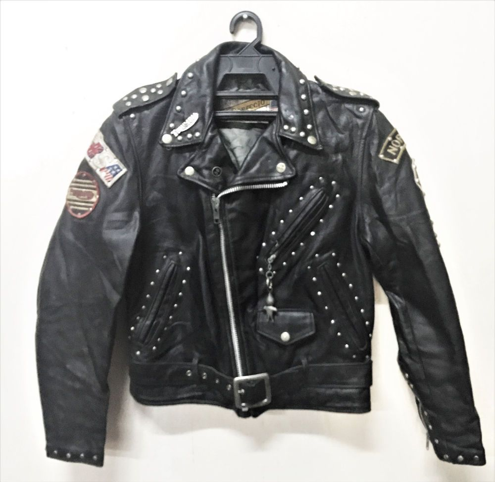Vintage Schott Perfecto 618 59 Club Motorcycle Leather Jacket Size 34 Cafe Racer Ebay Leather Motorcycle Jacket Leather Jacket Jackets [ 973 x 1000 Pixel ]
