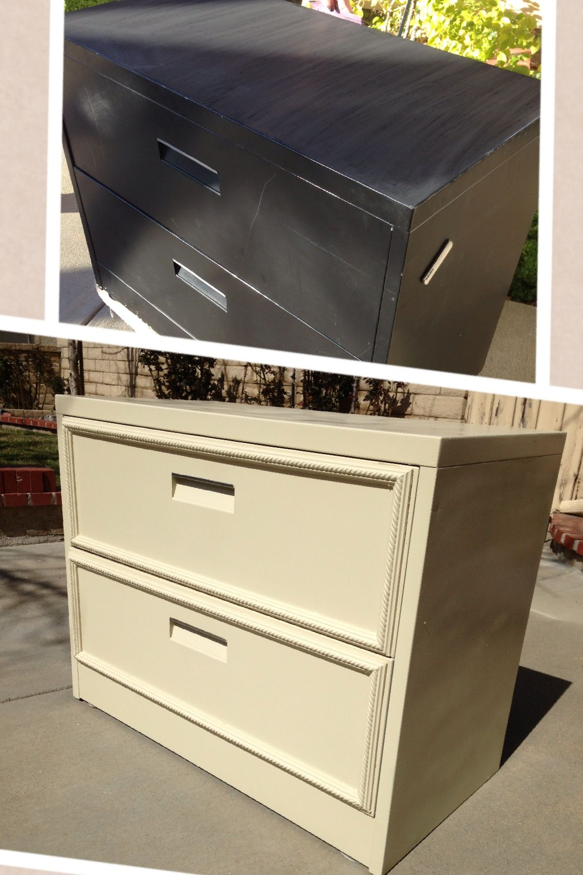 DIY Filing cabinet thebrawnandthebrain