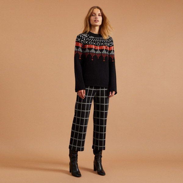 LANIUS Norwegischer Pullover Aus Schurwolle Gots   – Products