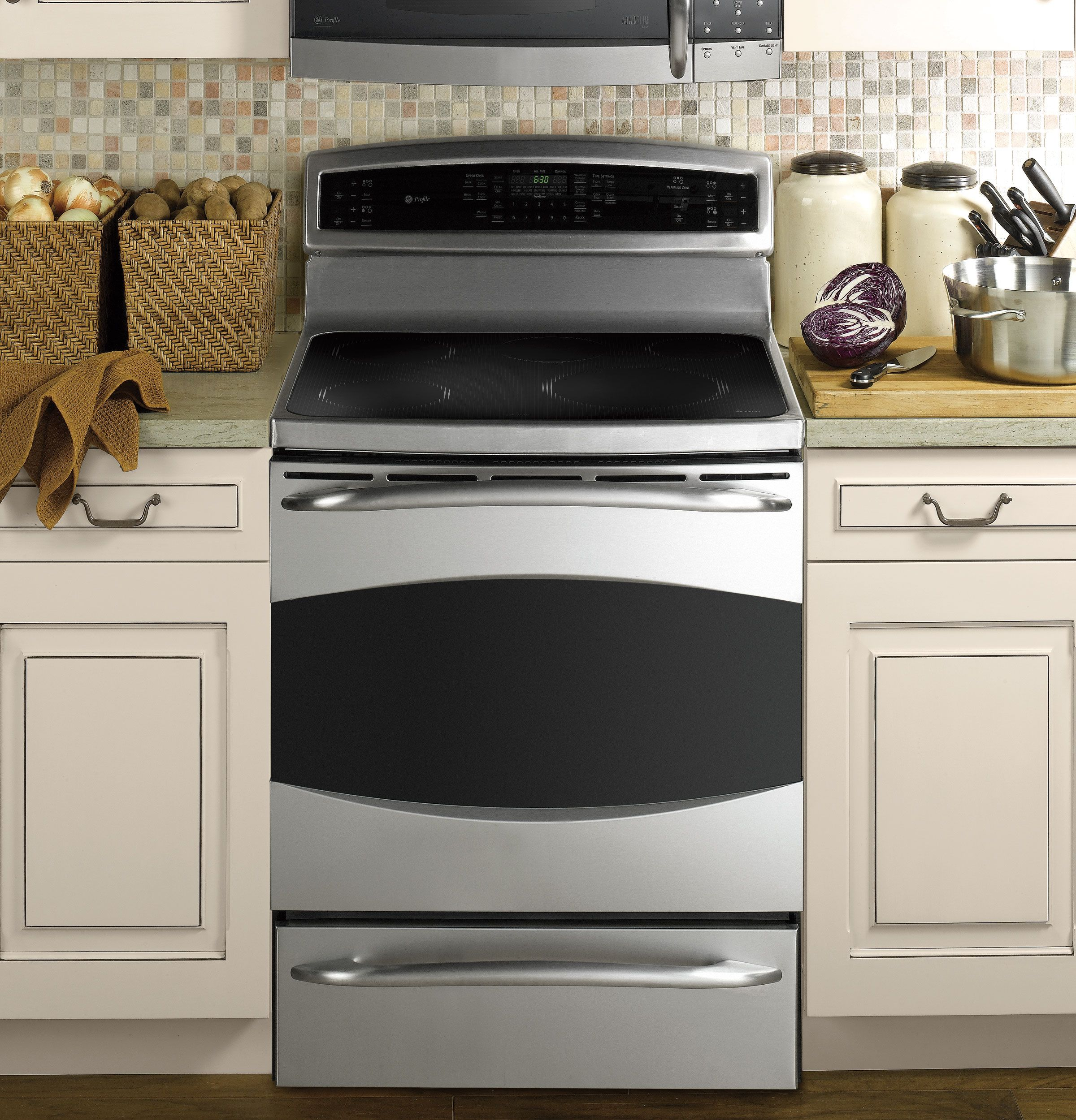 "Free Picture Indoors Contemporary Stove Refrigerator: GE Profile™ 30"" Free-Standing Induction Range"